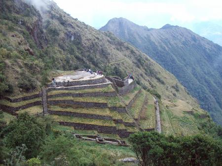 Ancient Inca ruins are dotted along the trail