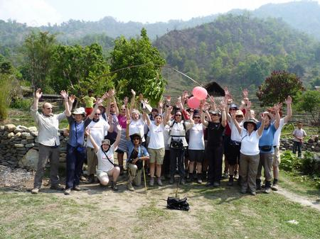 The Trek Nepal team at the finish line