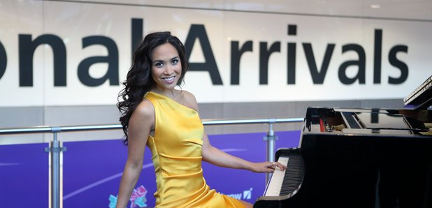 Myleene Klass Heathrow