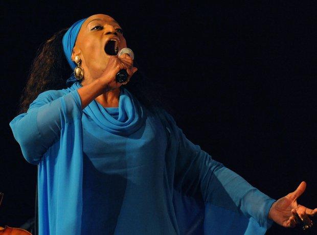 Jessye Norman performing opera