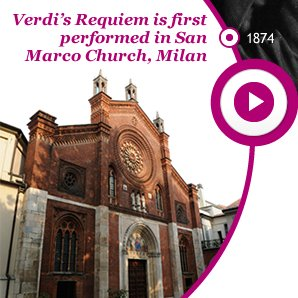 Verdi Requiem is first performed in San Marco Church, Milan