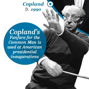 Copland's Fanfare for the Common Man is used at American presidential inaugurations