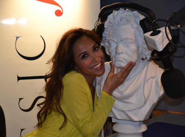 beethoven bust visits classic fm