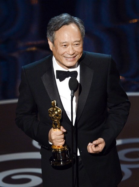 Ang Lee on stage at the Oscars 2013