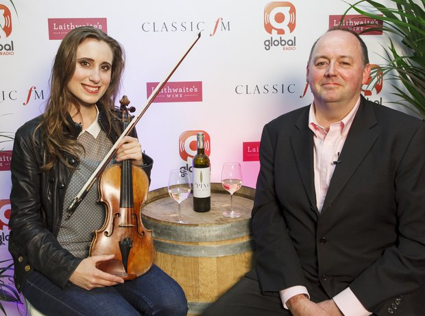 Jennifer Pike Classic FM Live 2013 behind the scen