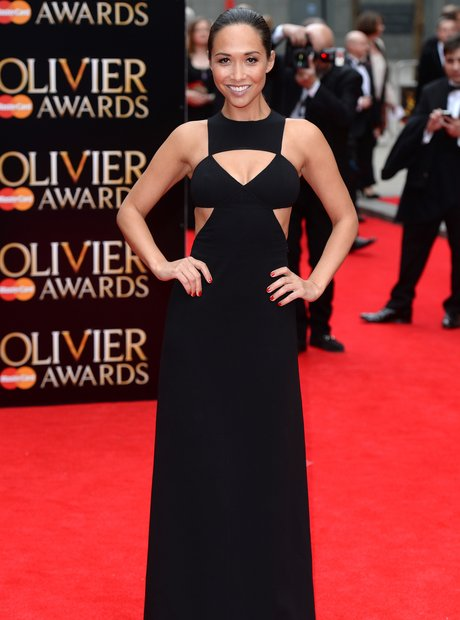 Myleene Klass arrives at the Olivier Awards 2013