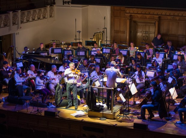 The Royal Philharmonic Concert Orchestra in rehear