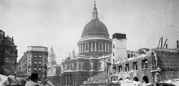 St Paul's Cathedral after the Blitz