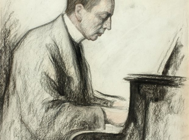 Rachmaninov drawing Pasternak
