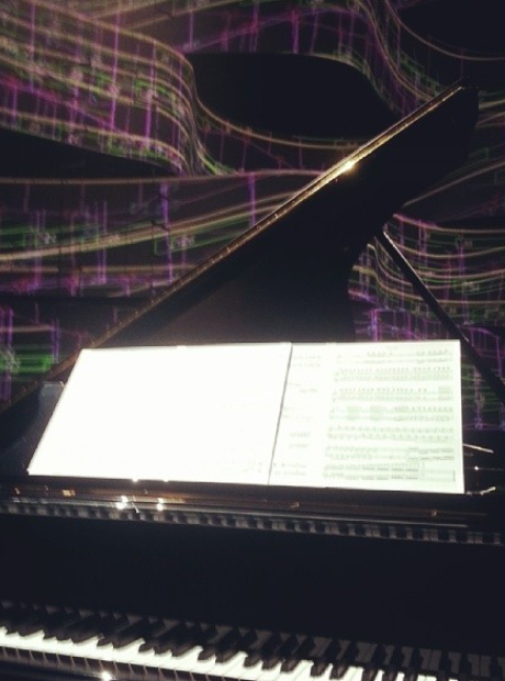 Lang Lang's piano at the Classic BRITs