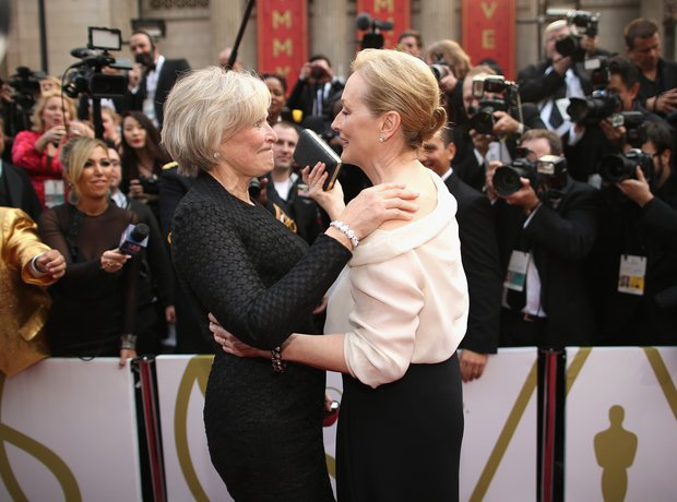 Glenn Close and Meryl Streep at the Oscars 2014