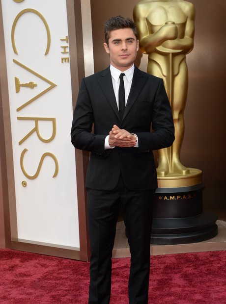 Zac Efron at the Oscars 2014 red carpet