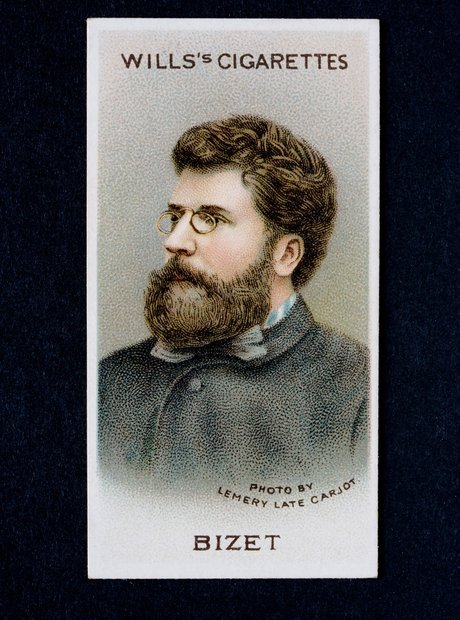 Georges Bizet composer Carmen cigarette card