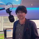 Alex James in the studio