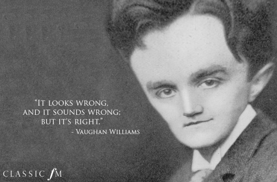 Egotistical composers: Vaughan Williams