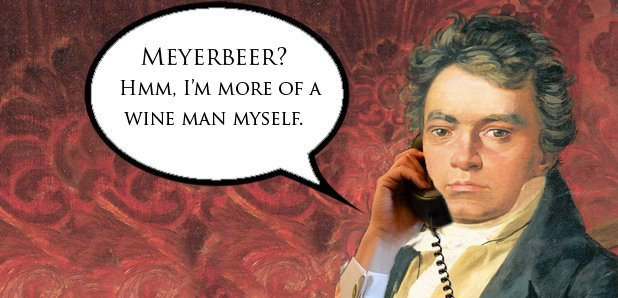 Beethoven on the phone