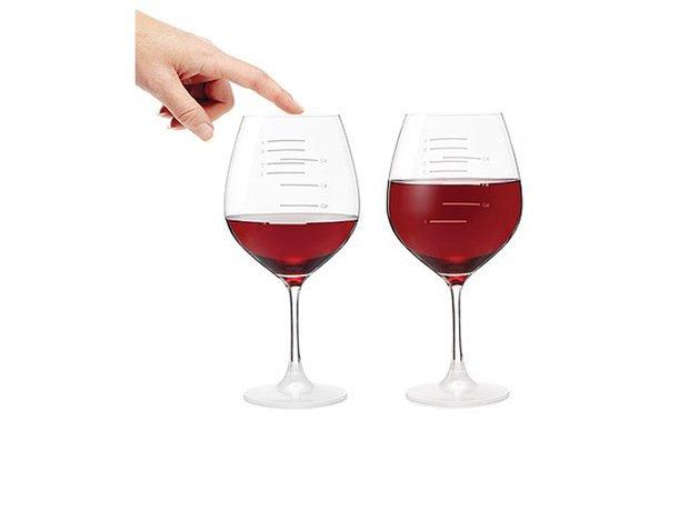 Major scale wine glasses