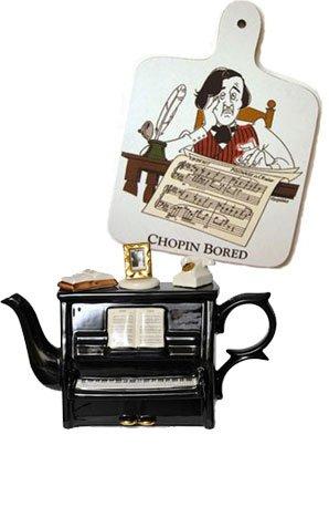 Piano teapot and Chopin board