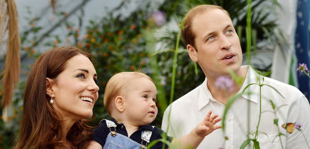Prince George with Duke and Duchess of Cambridge