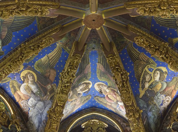Valencia Cathedral Renaissance Frescoes Angels