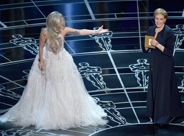 Lady Gaga introduces Julie Andrews