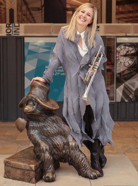 Alison Balsom at Paddington Station