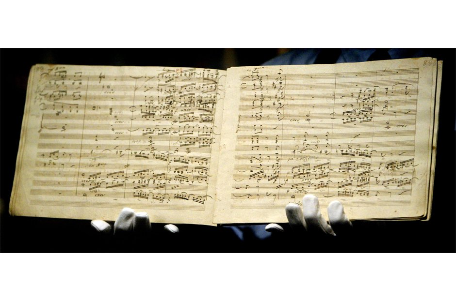 Beautiful manuscripts Beethoven Ninth Symphony