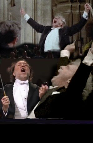 Excited conductors performing Mahler