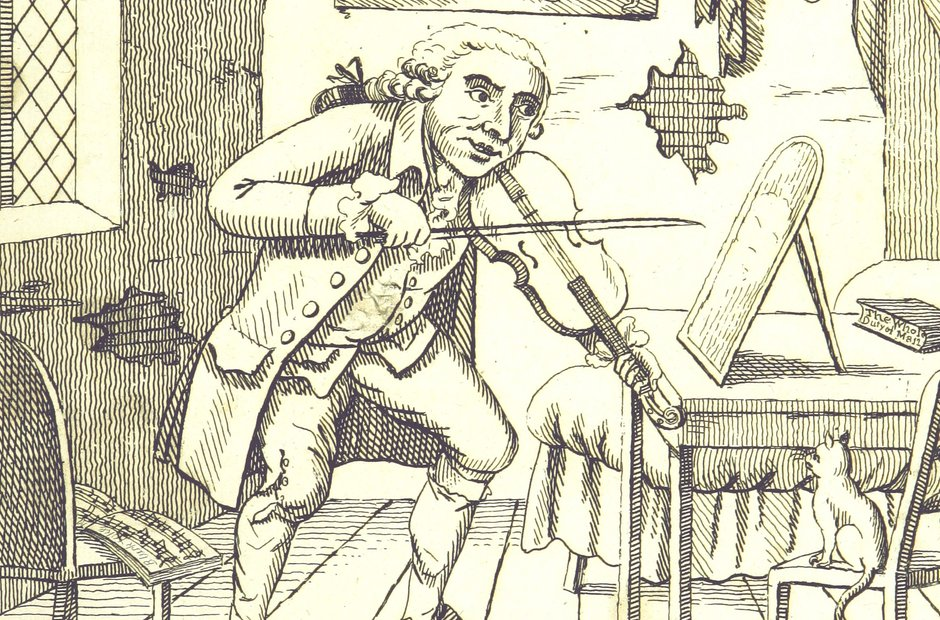 British Library images Peter fiddling