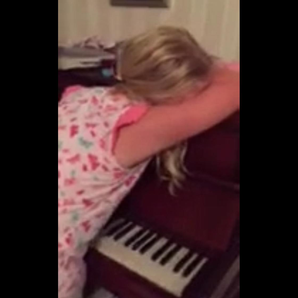 Sleepwalking pianist