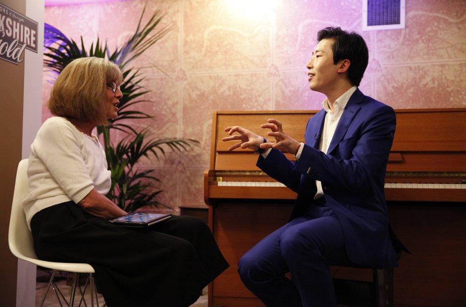 Jane Jones and Ji Liu Classic FM Live 2015 Backsta