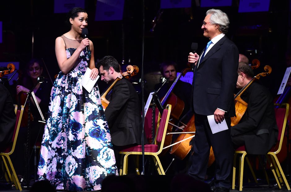 Margerita Taylor and John Suchet during Classic FM