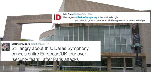 Dallas Symphony Orchestra cancels tour