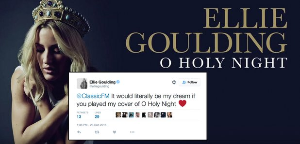 Ellie goulding classic fm tweet o holy night