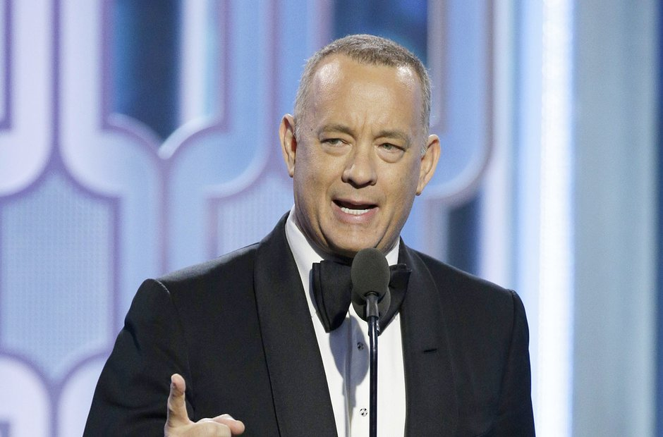 Tom Hanks at the Golden Globe Awards 2016