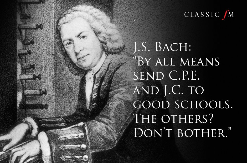 Great composers advice Bach