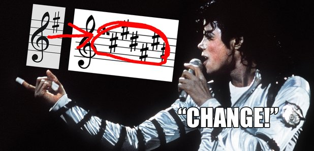 michael jackson key change