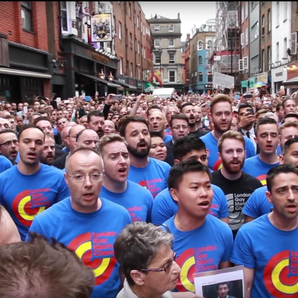 London Gay Men's Chorus Soho vigil