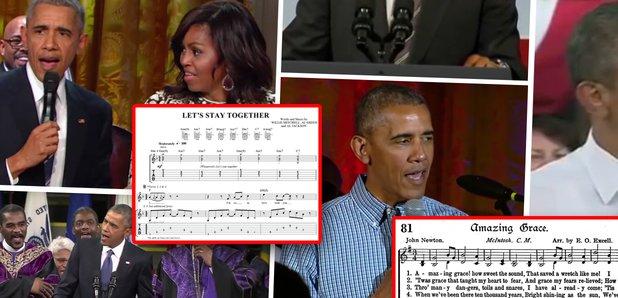 president obama singing